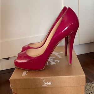 Christian Louboutin  pink leather Very  Prive  120
